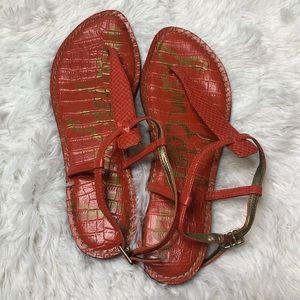 Sam Edelman Orange GiGi Sandals Size 8